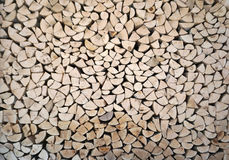 Firewood from pine wood Royalty Free Stock Photo