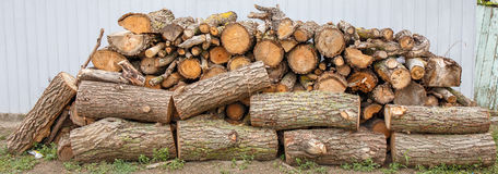 Firewood. Firewood prepared for winter, in a small town located in a small country found on a smaller planet Stock Photography