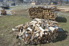Firewood, prepared for winter. Royalty Free Stock Image