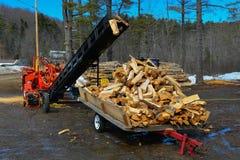 Firewood processing Stock Photos