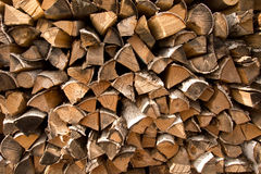 Firewood put texture Royalty Free Stock Images