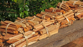Firewood ready for sale Royalty Free Stock Photo
