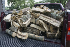Firewood Ready To Be Unloaded Royalty Free Stock Image