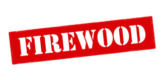Firewood. Rubber stamp with word firewood inside,  illustration Royalty Free Stock Photos