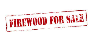 Firewood for sale. Rubber stamp with text firewood for sale inside,  illustration Stock Images