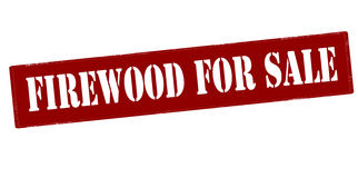 Firewood for sale. Rubber stamp with text firewood for sale inside,  illustration Stock Image
