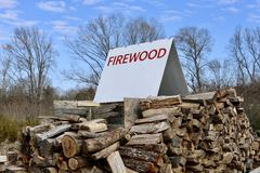 Firewood For Sale Stock Photos