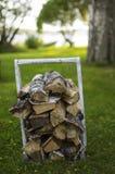 Firewood for sauna Royalty Free Stock Photos