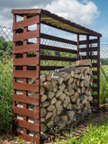 Firewood shed Royalty Free Stock Images