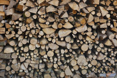 Firewood with a small parts Stock Image
