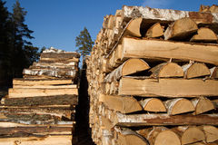 Firewood. Some big woodpile. Firewood from Finland Royalty Free Stock Images