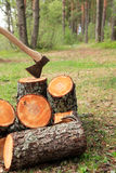 Firewood Splitting Royalty Free Stock Images