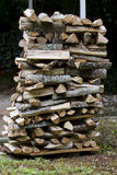 Firewood stack. Stak of firewood drying under summer sun royalty free stock photo