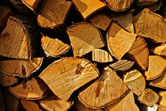 Firewood stack Stock Image