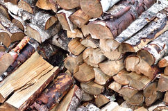 Firewood stack background Royalty Free Stock Photography