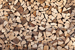Firewood stack for background Stock Image