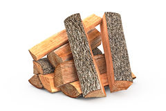 Firewood stack chopped. Firewood stack dry chopped, objects. 3D graphic Royalty Free Stock Images