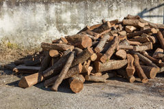Firewood on a stack Stock Image