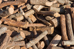 Firewood on a stack Royalty Free Stock Photos