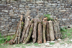 Firewood stack Royalty Free Stock Images