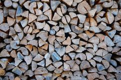 Firewood Stack. Pattern of stacking firewood Royalty Free Stock Image