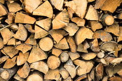 Firewood stacked . Stock Photography
