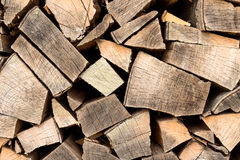 Firewood stacked Royalty Free Stock Photo