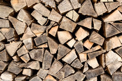 Firewood stacked Stock Photos