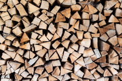 Firewood stacked Royalty Free Stock Photos