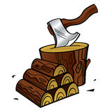 Firewood stock illustration