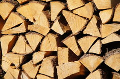 Firewood. Stocked up dry firewood background Royalty Free Stock Images