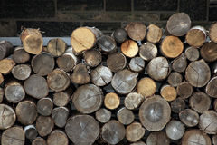 Firewood stockpile Stock Photos