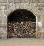 Firewood stockpile Stock Images