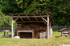 Firewood Storage Building Stock Photography
