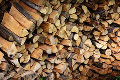 Firewood. Store firewood. Wood burned as fuel stock photos