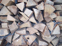Firewood texture background Stock Photo