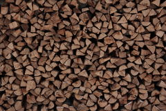 Firewood texture. Choped woods organized Royalty Free Stock Images