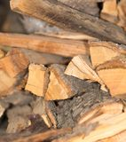Firewood texture, after the sawing wood. Photo of abstract background Stock Images