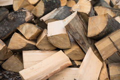 Firewood. A texture of wood Stock Photography