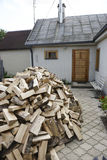 Firewood. Timbers industry trees cut wood Royalty Free Stock Photo