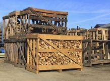 Firewood to Go Royalty Free Stock Images
