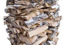 Firewood to stoke a furnace Stock Photos