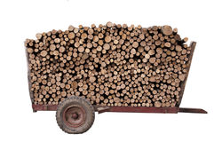 Firewood on a trailer Royalty Free Stock Photography