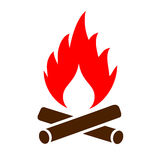 Firewood vector icon. On white background Royalty Free Stock Photo
