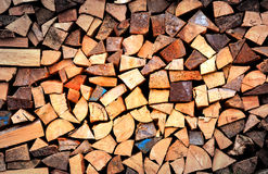 Firewood wall Royalty Free Stock Images