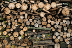 Firewood warehouse Stock Photo
