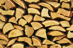 Firewood on winter Stock Photo