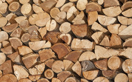 Firewood wood pile stacked Stock Images