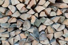 Firewood woodpile Stock Photo