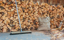 Firewood work Stock Image